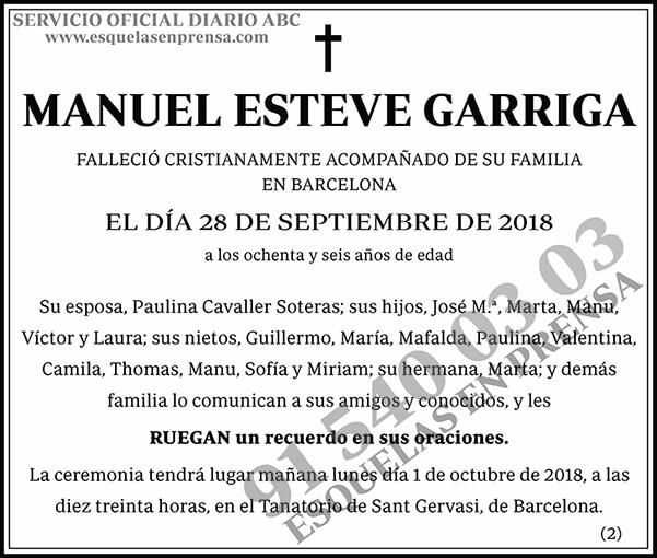 Manuel Esteve Garrica